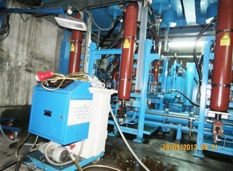 installations of industrial oil filtration - MEOC 100 AT GESTAMP